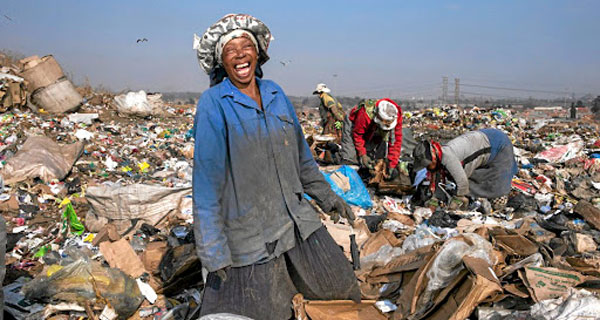 Waste-pickers lady